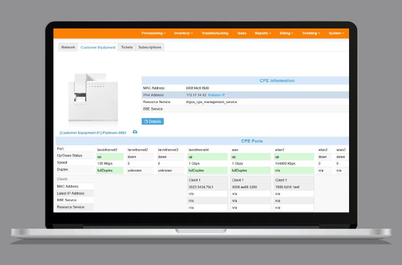 BSS Provisionierung von PacketFront Software